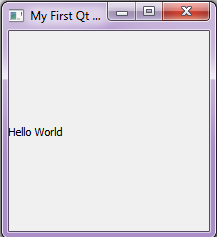 Output - Create First Qt Application