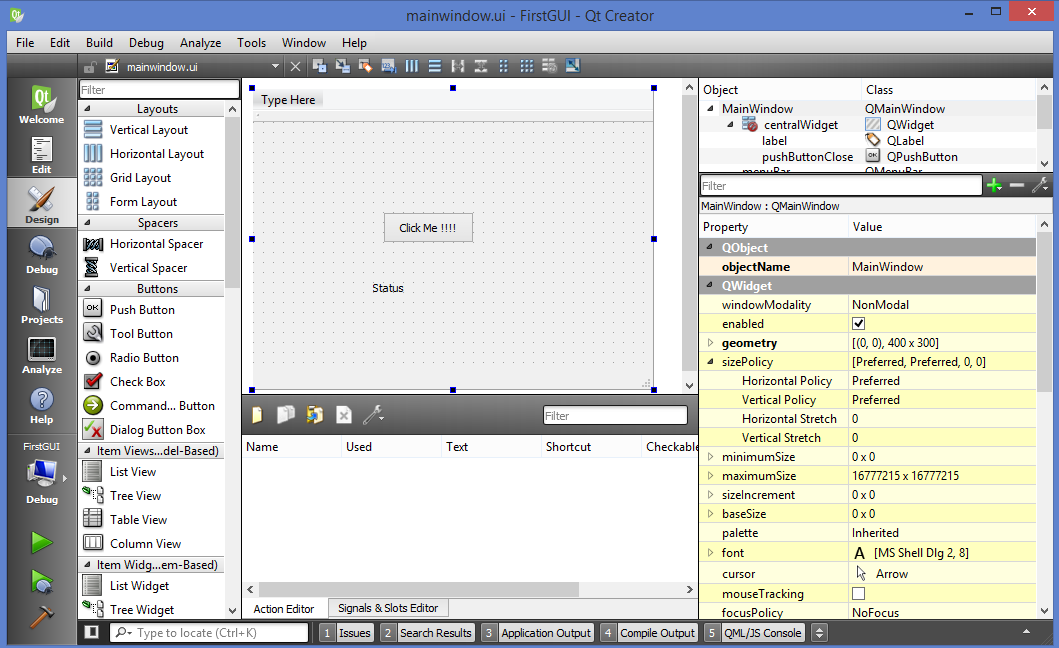 Qt Project Structure - Gui Design