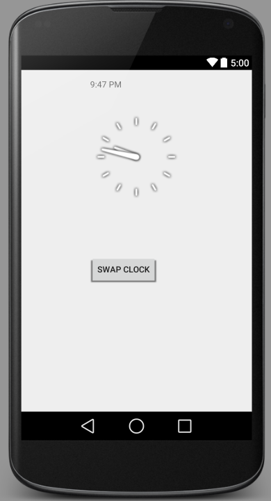 Android Studio Android Analogclock And Digitalclock Example