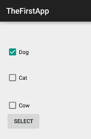 Android Checkbox Activity Design