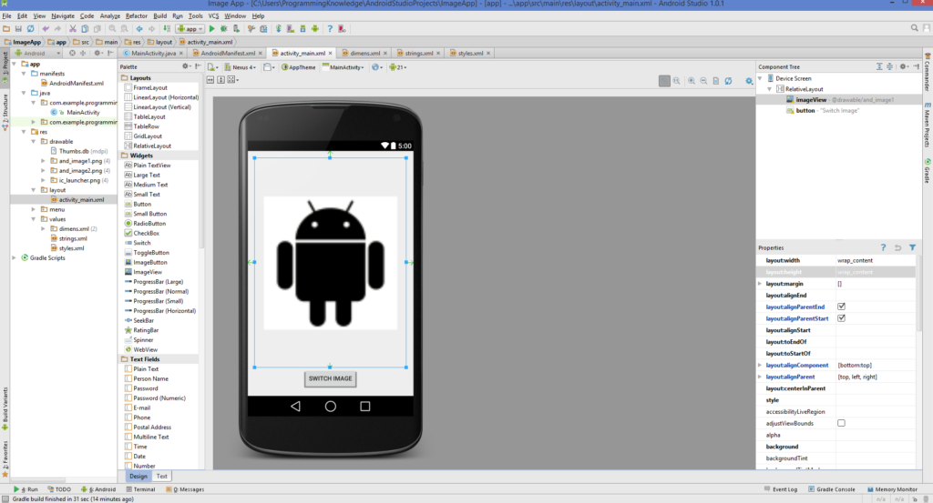Android Studio - Android ImageView example