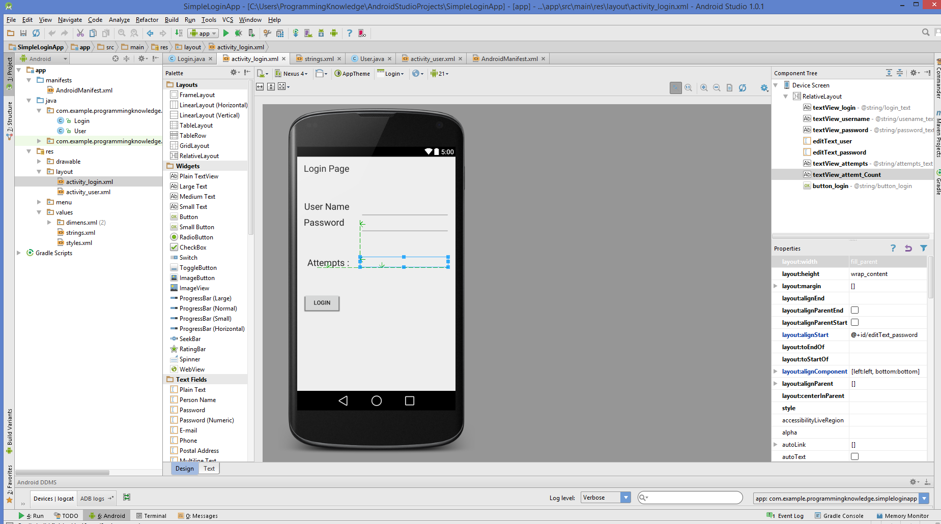 Android studio android login screen example android login screen example design baditri Image collections