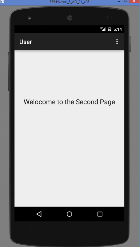 Android Login Screen Example Output correct user and password Next activity