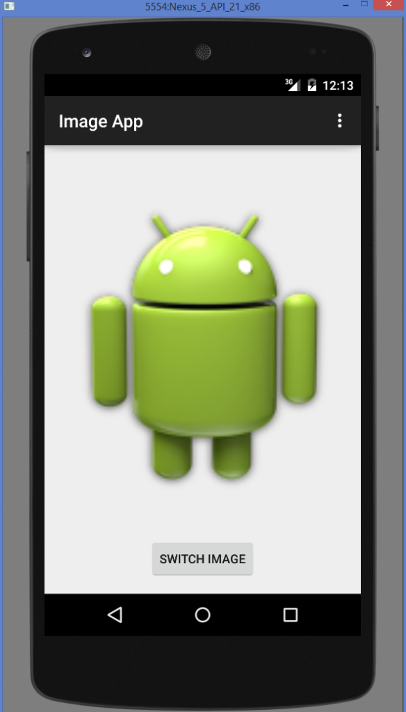 Android ImageView example output 1