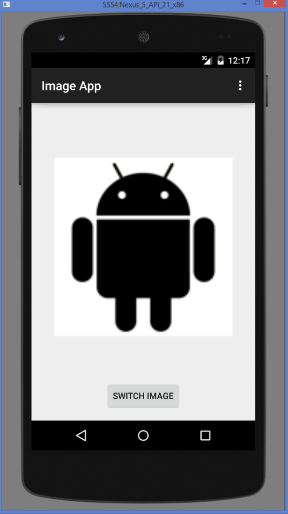 Android ImageView example output 3