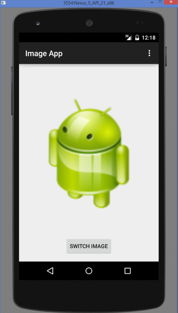 Android ImageView example output 2