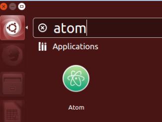 search atom on ubuntu