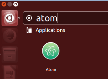 search atom on ubuntu
