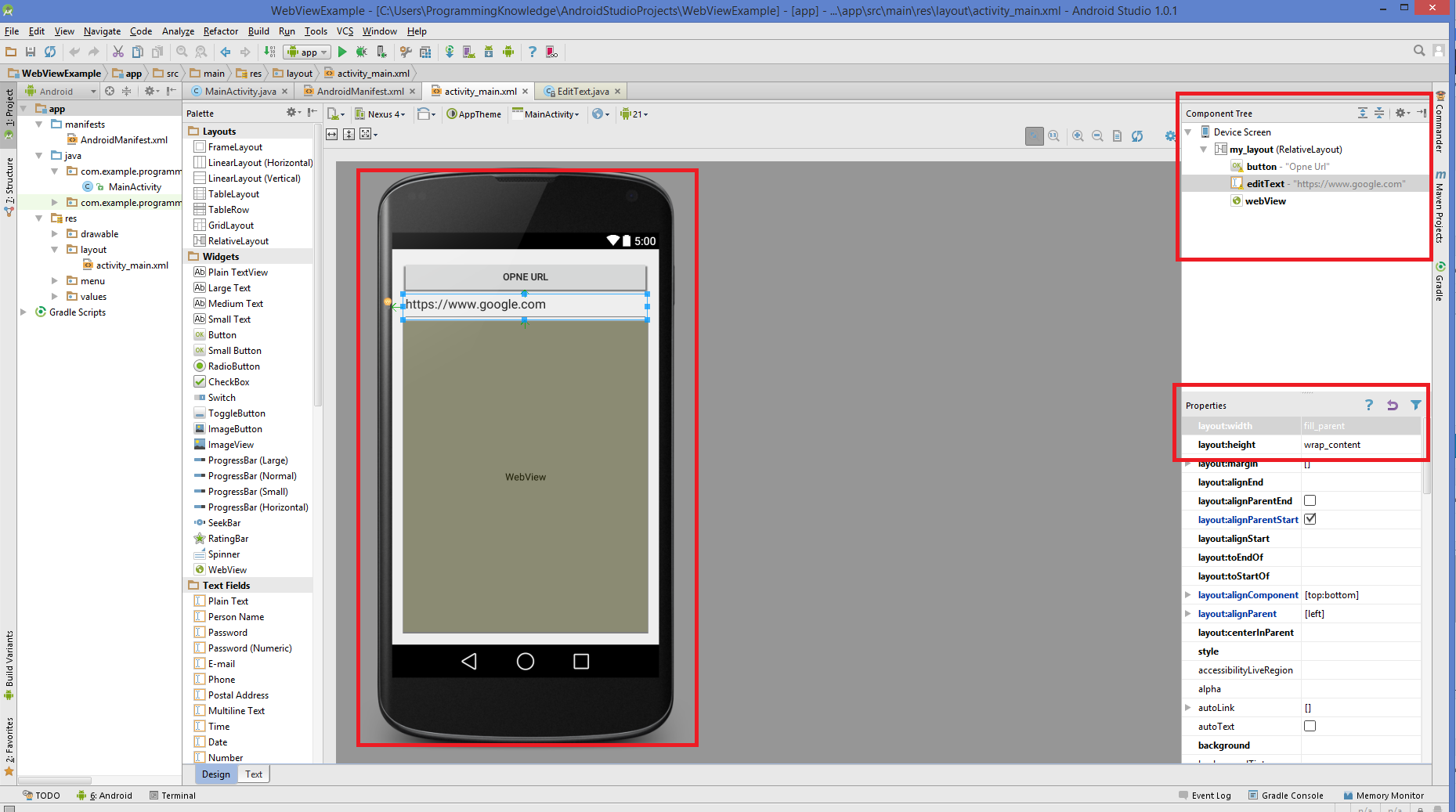 Android WebView Design
