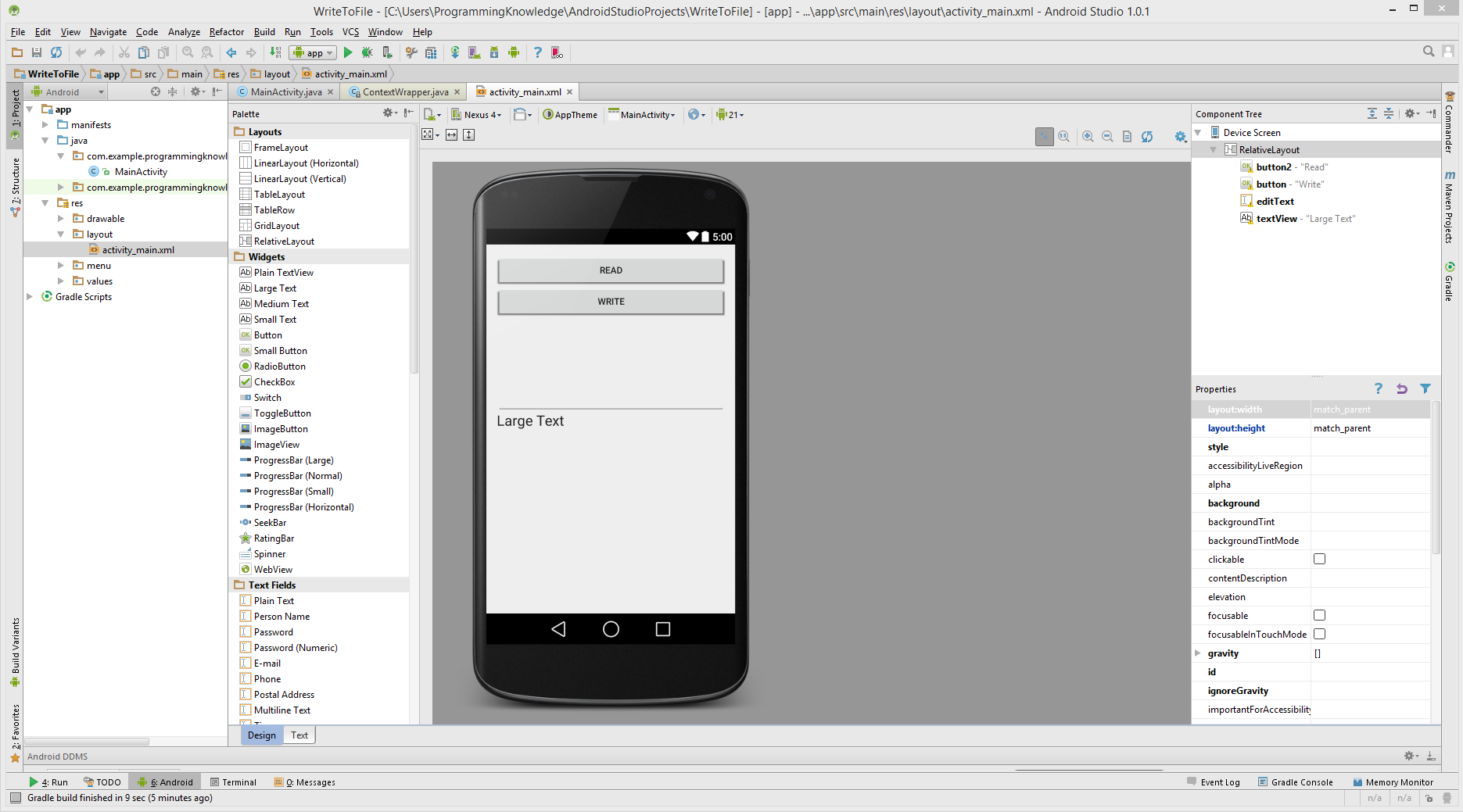 Android Studio How To Save A File On Internal Storage Read Write