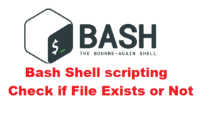 Bash Shell scripting - Check if File Exists or Not