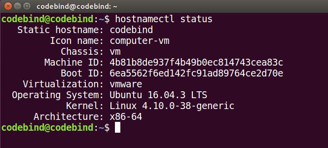 hostnamectl status