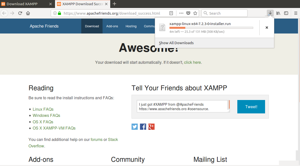 How to install XAMPP on Ubuntu 18 04
