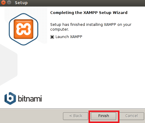 xampp install finish