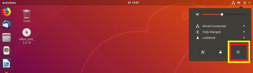 shut ubuntu