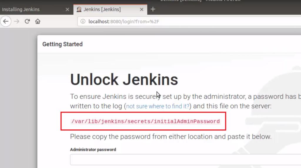 Jenkins initial password