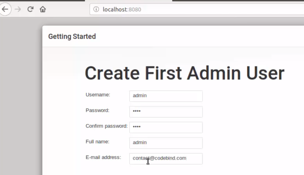 jenkins create first admin user