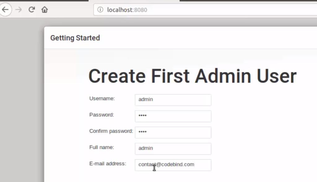 jenkins create first admin user